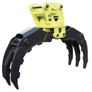 Hydraulic Excavator Rotating Grapple Grab